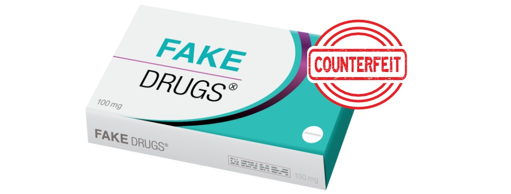 package of fake drugs