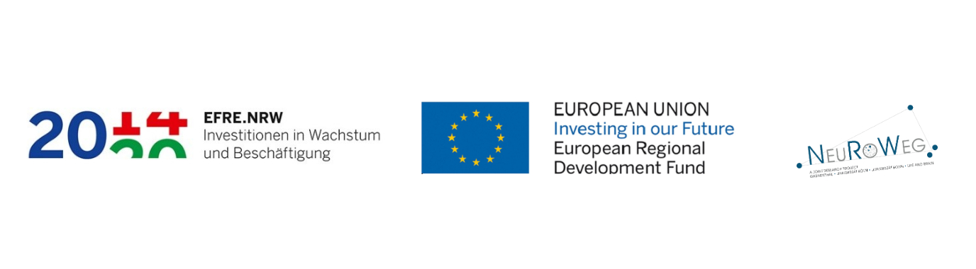 The project NeuRoWeg received € 1.5 million over three years from the European Funds for Regional Development and the State of North Rhine-Westphalia (Reference number EFRE-0800404).